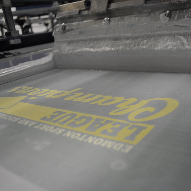 Silk screen printing in Edmonton for t shirts, hoodies and other apparel